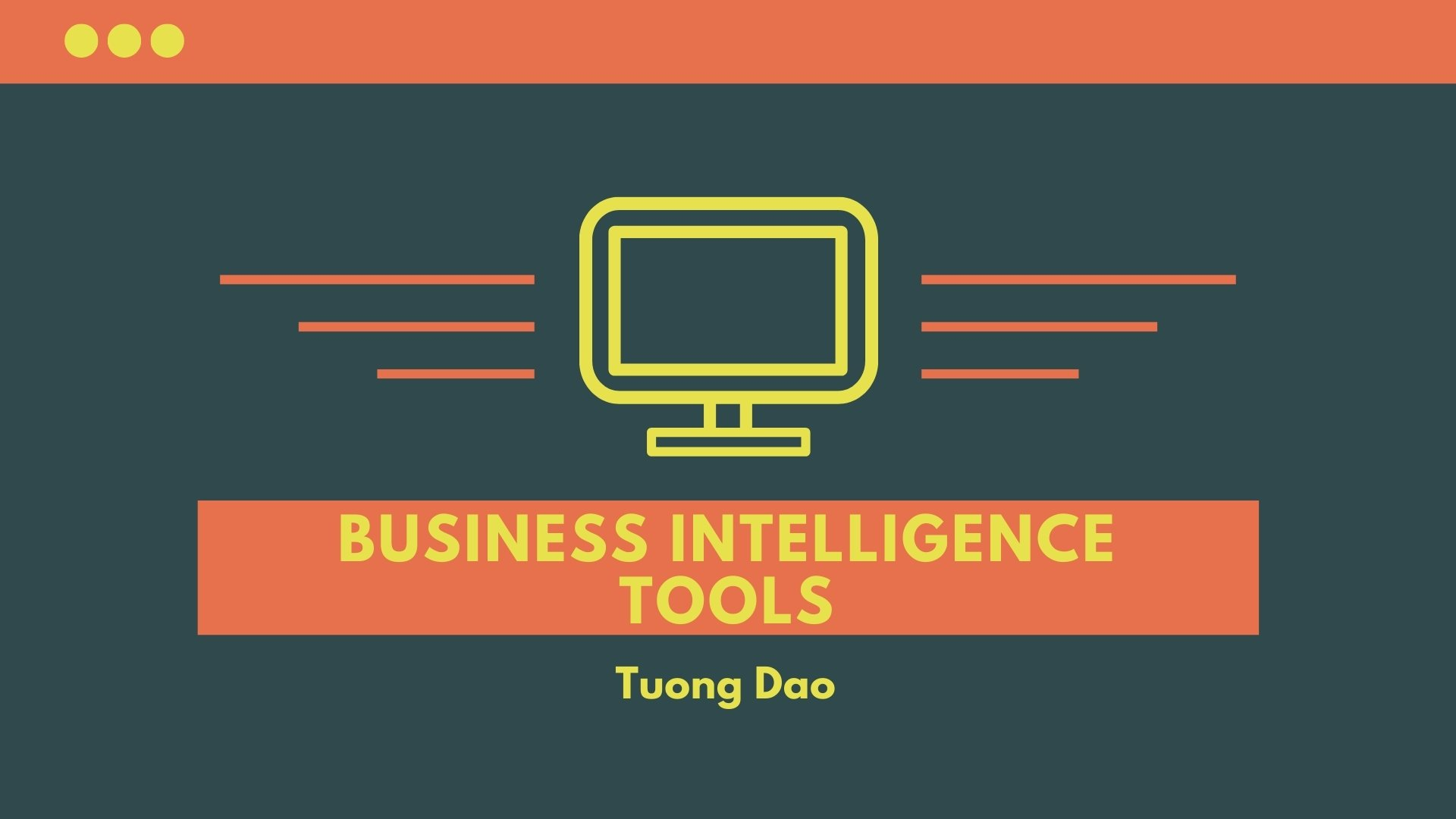 Basic Concepts of Business Intelligence Tools
